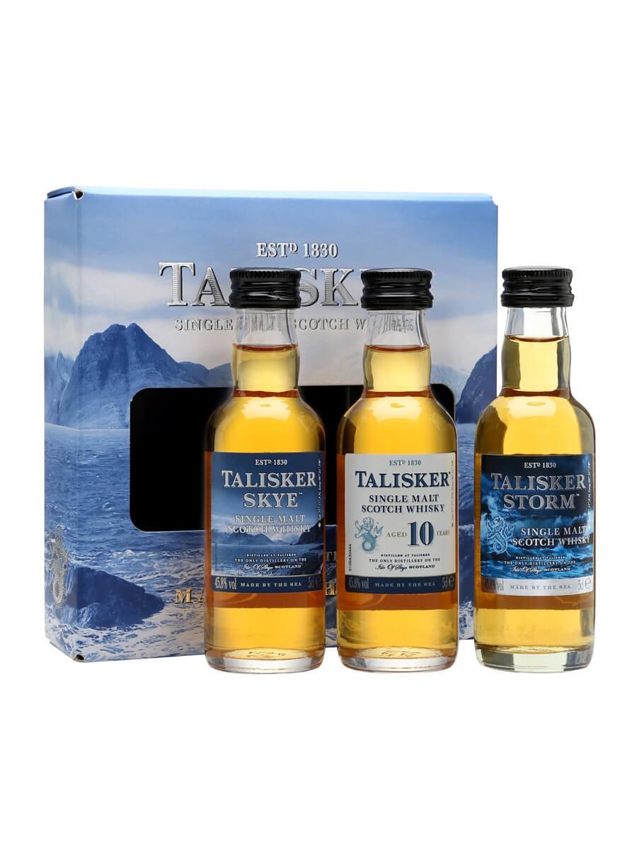 Talisker Miniature Gift Pack 3x5cl. 15cl / 45.8%. Island Single Malt Scotch ...