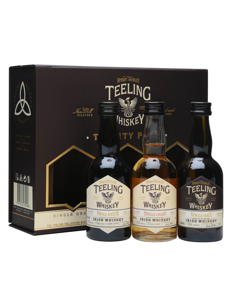 teeling whiskey trinity miniature pack 3 x 5cl the whisky exchange. Black Bedroom Furniture Sets. Home Design Ideas