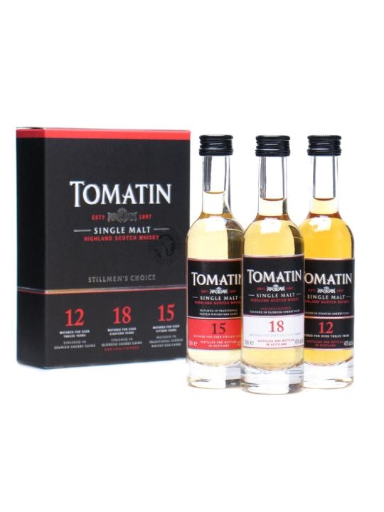 Tomatin Miniature 3-pk / 12 Year Old, 15 Year Old, 18 Year Old