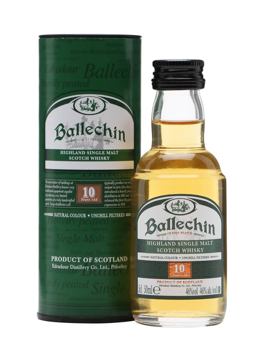 Ballechin 10 Year Old / Heavily Peated / Miniature