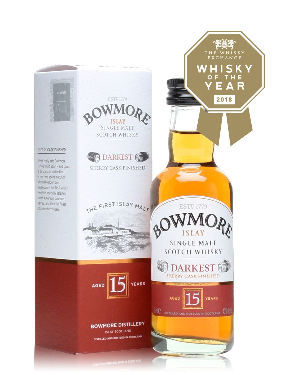 8bed4194fcd Bowmore 15 Year Old - Darkest Miniature   The Whisky Exchange