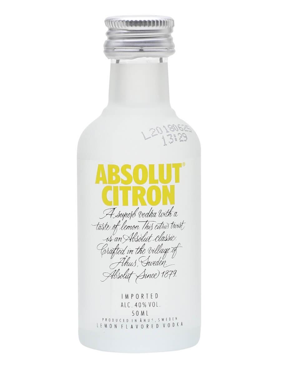 Absolut Citron Vodka Miniature
