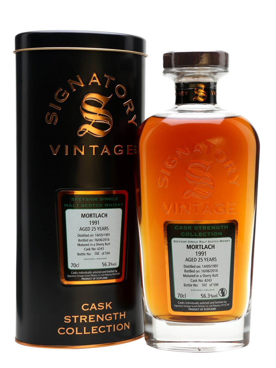 Signatory Vintage Cask Strength Collection Mortlach 1991