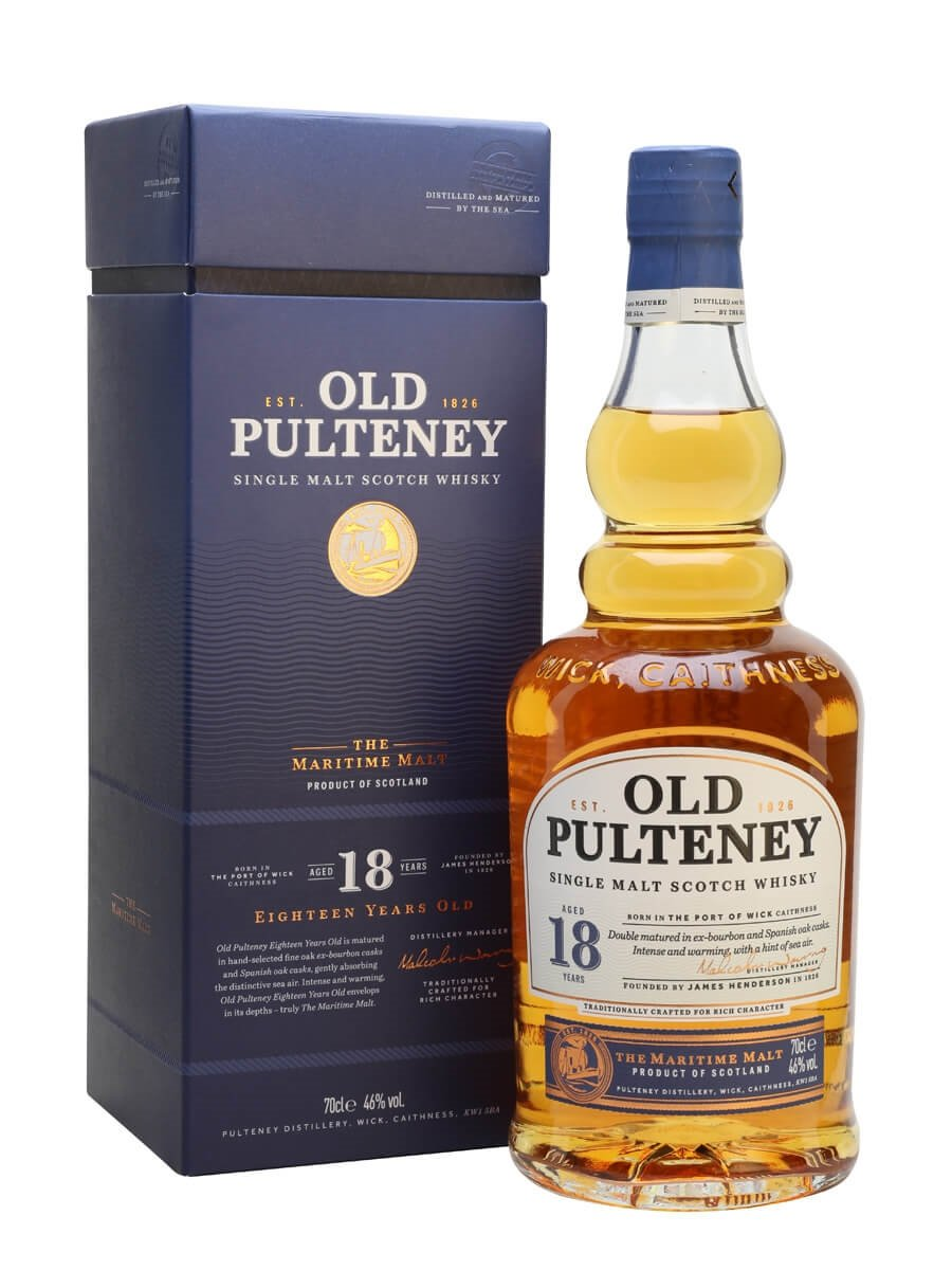 Old Pulteney 18 Year Old Scotch Whisky : The Whisky Exchange