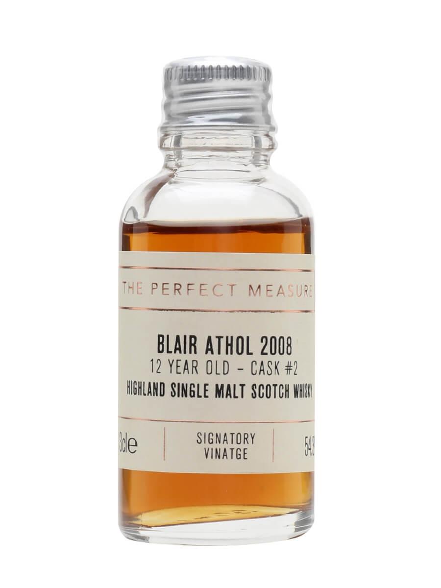 Blair Athol 2008 Sample / 12 Year Old / Signatory