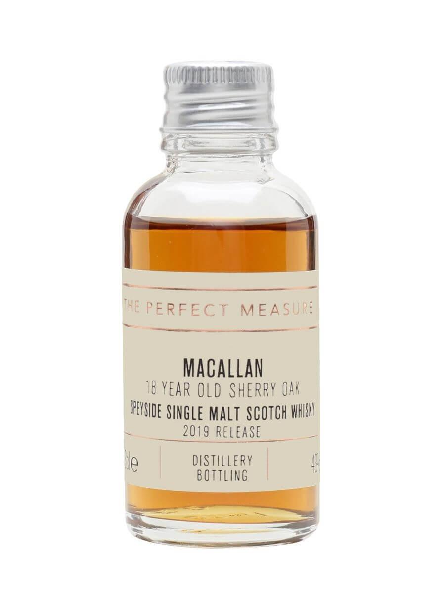 Macallan 18 Year Old Sherry Oak Sample / 2019 Release