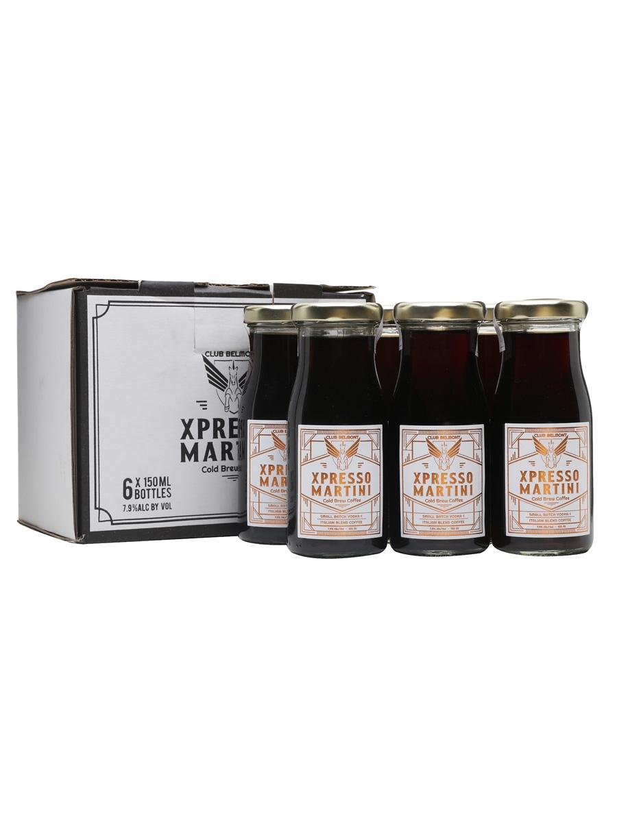 Club Belmont Xpresso Martini Cold Brew Coffee /6 Bottle Case