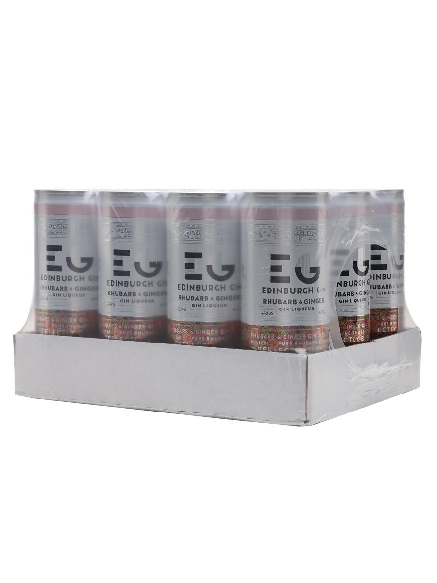 Edinburgh Rhubarb & Ginger with Ginger Ale / Case of 12 Cans