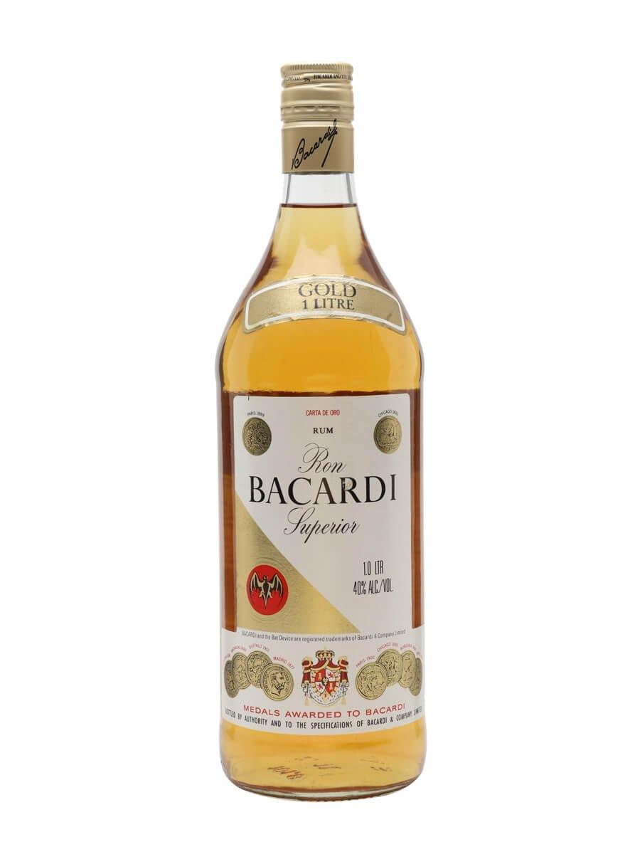 Bacardi Superior Gold / Carta De Oro / Bot.1970s / Litre