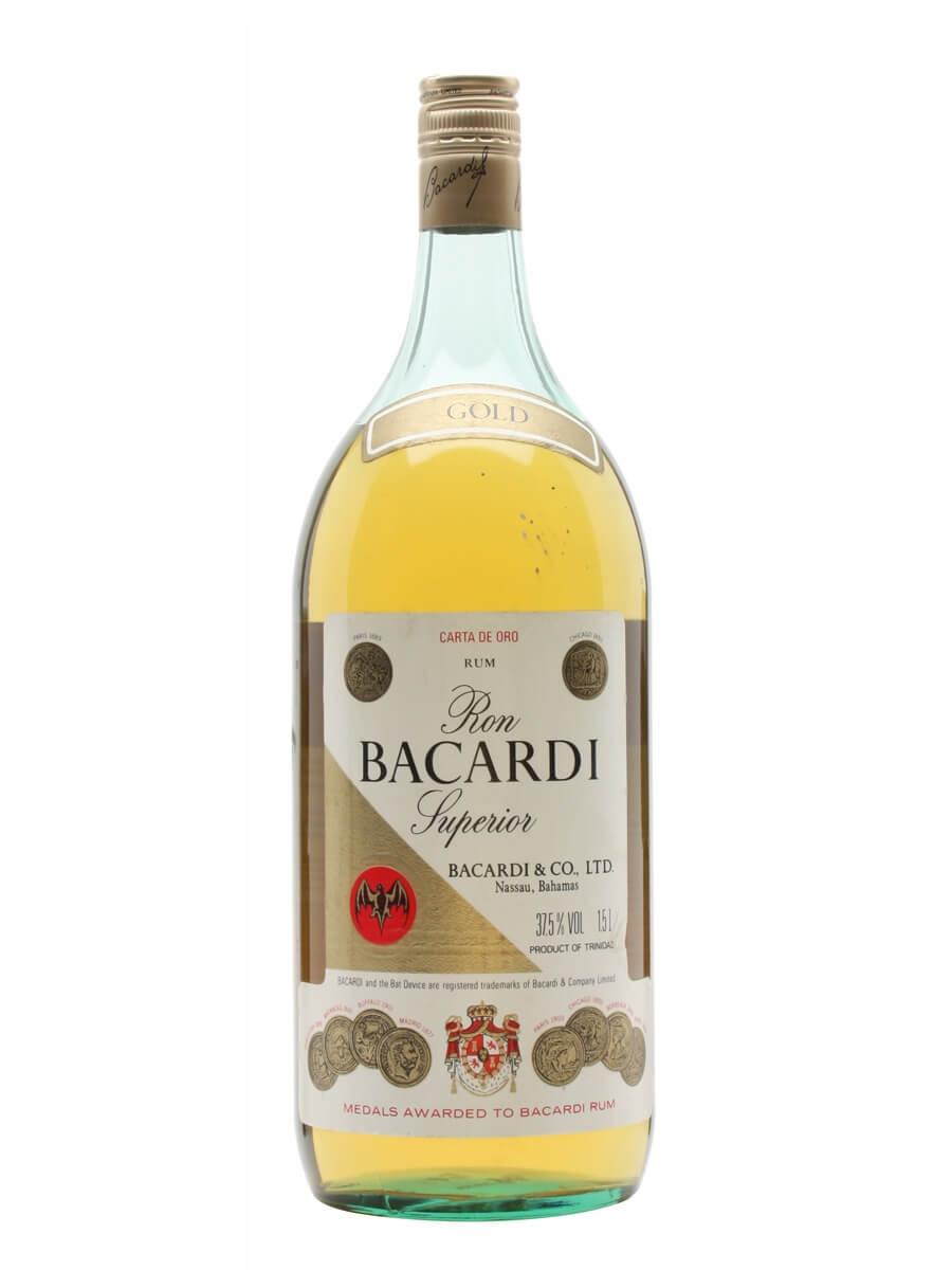 Bacardi Superior Rum / Carta Oro / Bot.1980s / Magnum