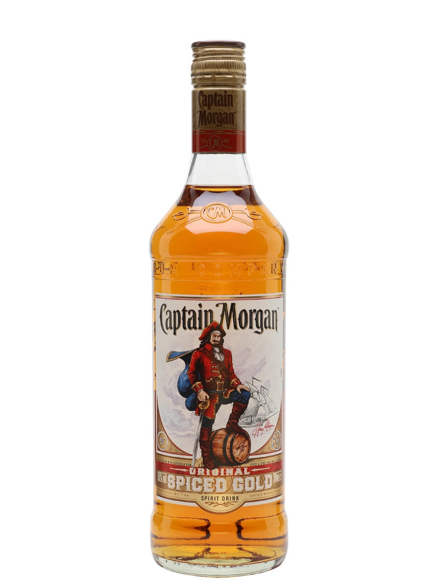 Captain morgan spiced gold rum spirit drink the whisky for Best spiced rum drinks