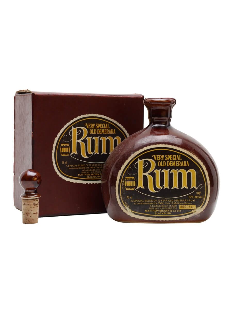 Demerara Rum 12 Year Old / Bot.1980s / 150th Year of Matthew Brown