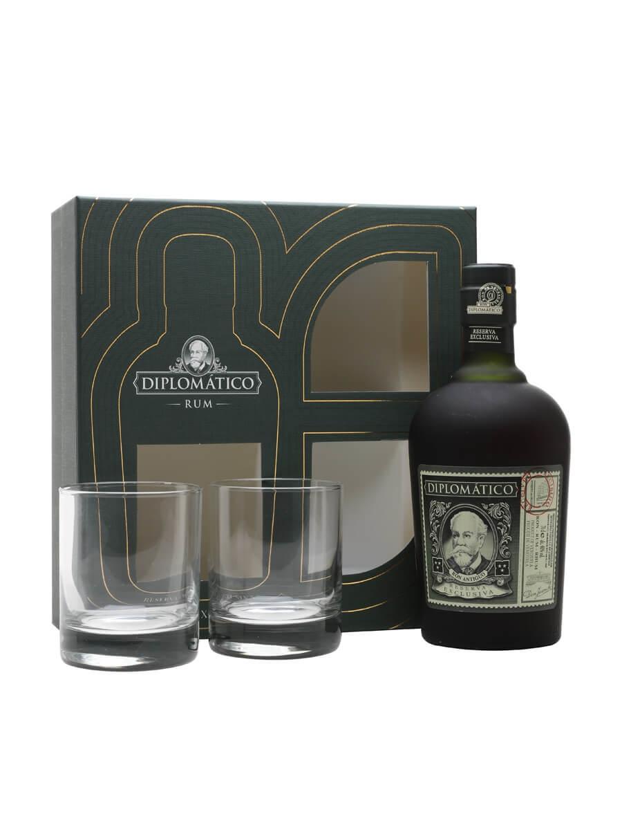 Diplomatico Reserva Exclusiva Rum Old Fashioned Glass Set