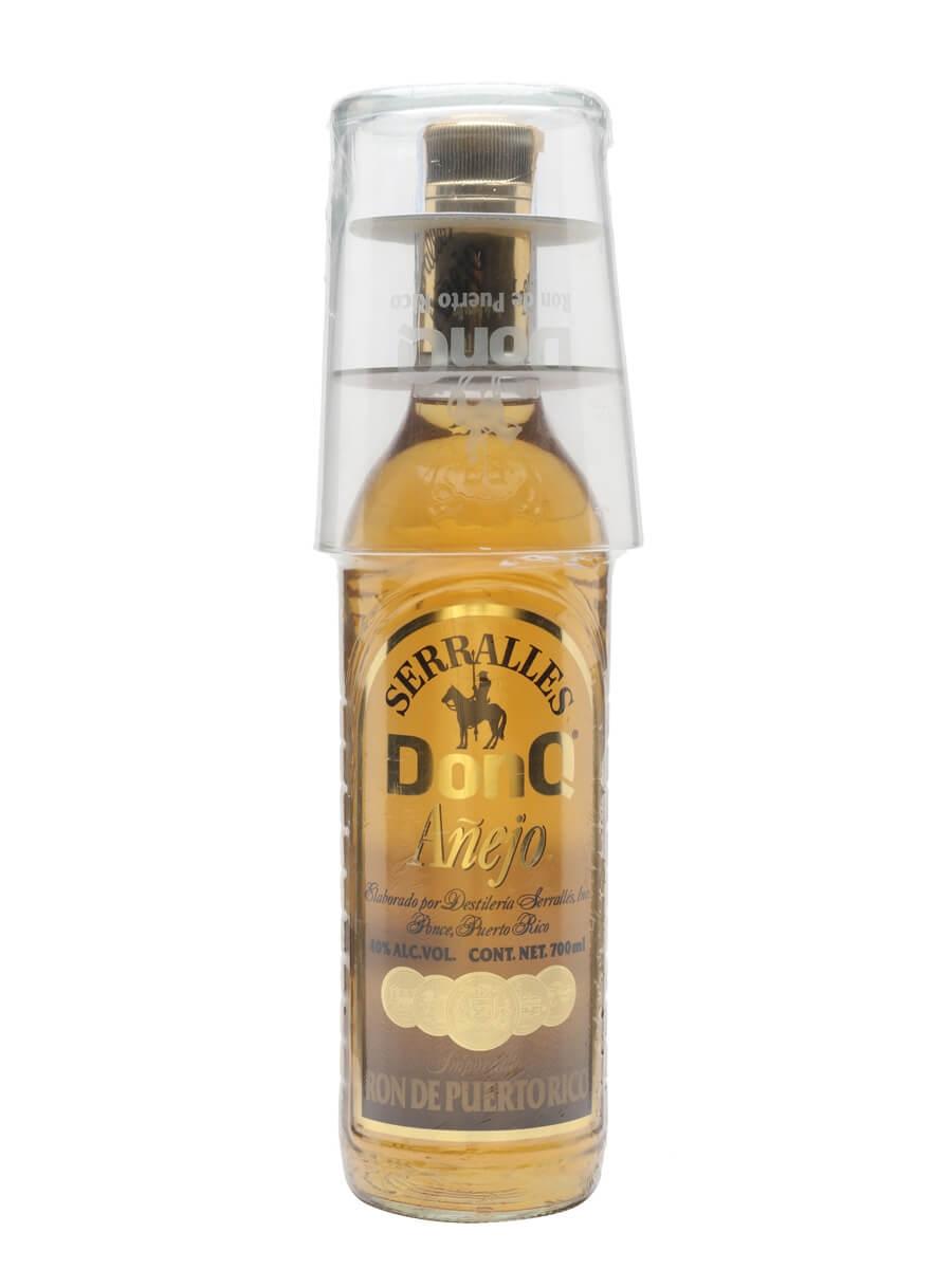 Don Q Anejo Rum / Glass Pack / Bot.2000s