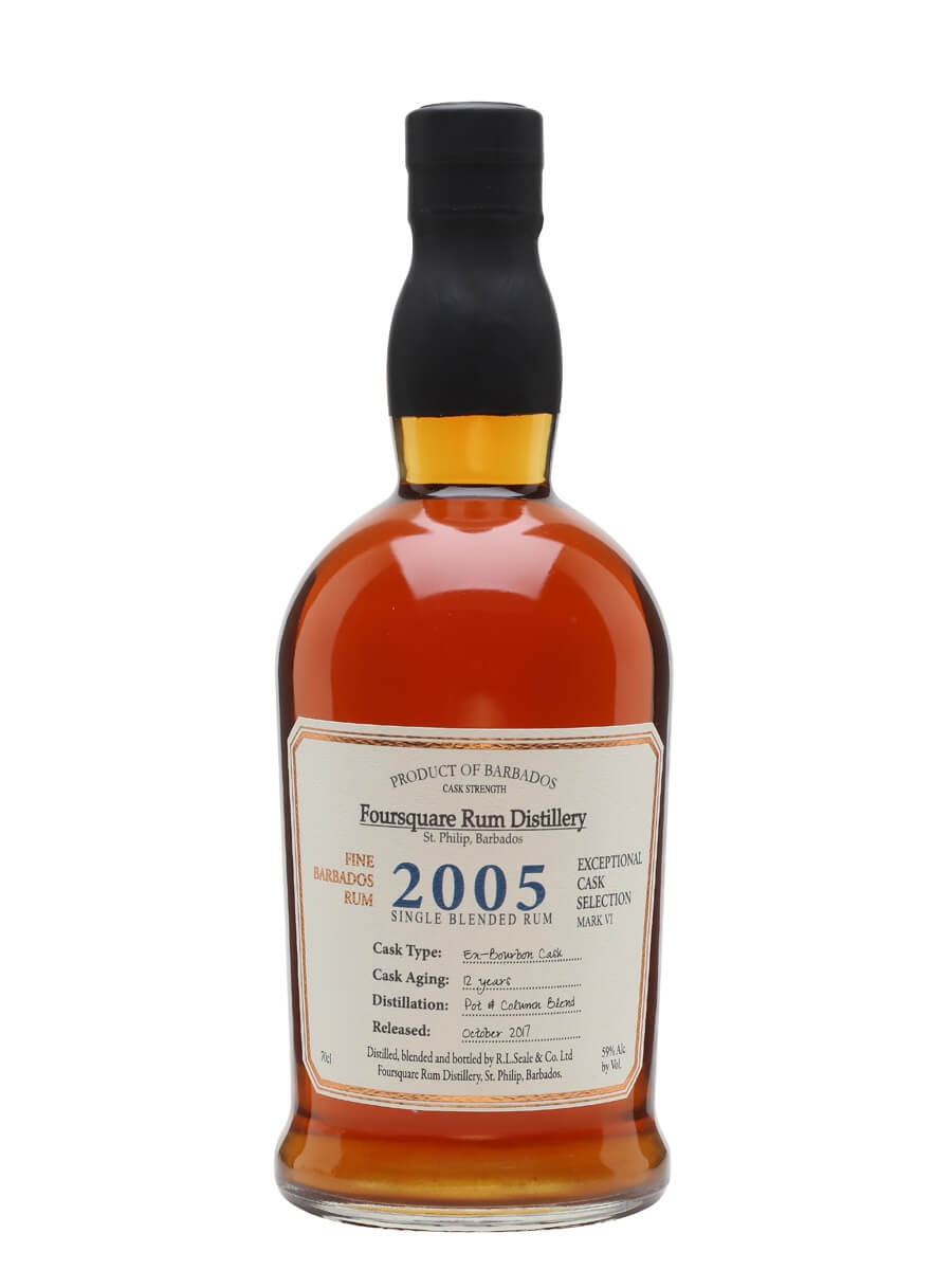 Foursquare 2005 Cask Strength Rum / 12 Year Old
