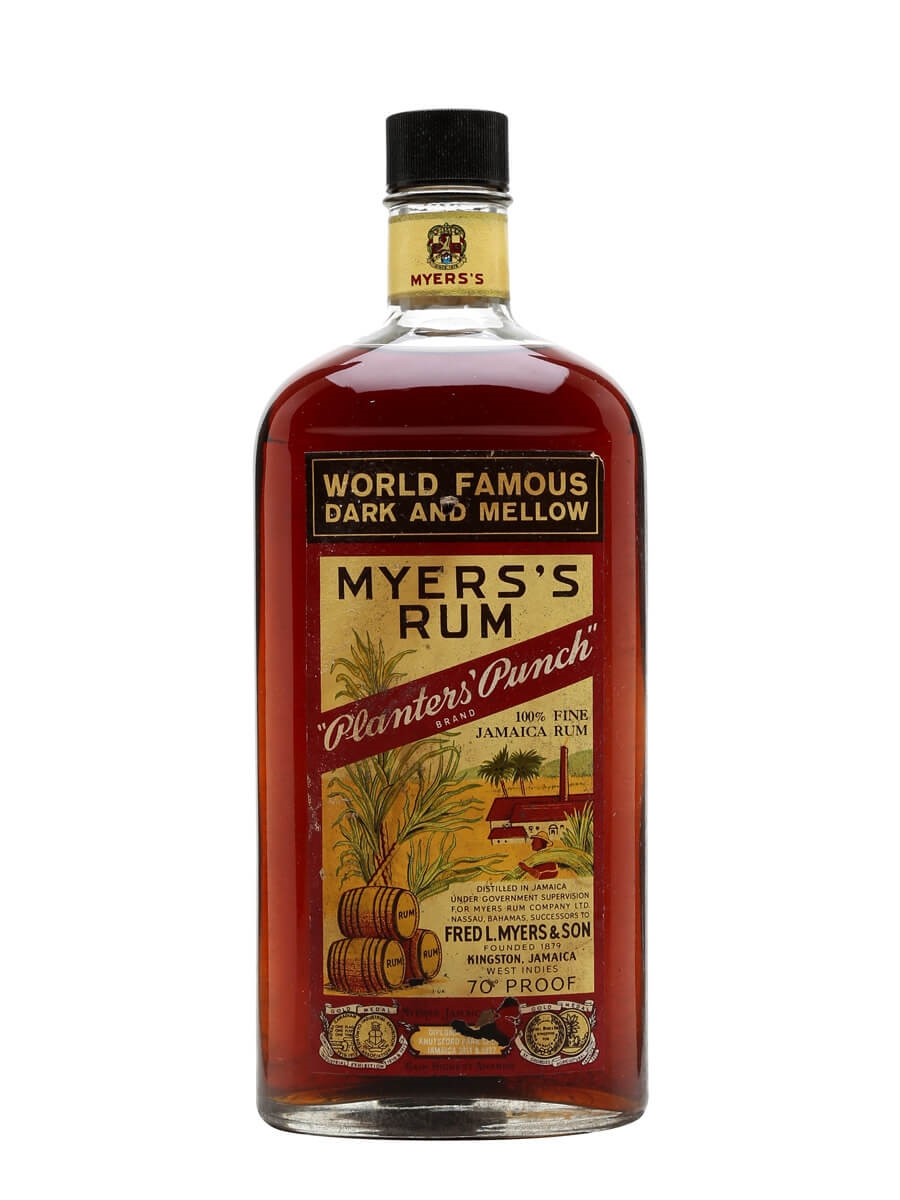 Myers's Rum - Planters' Punch - Bot.1960s : The Whisky Exchange on