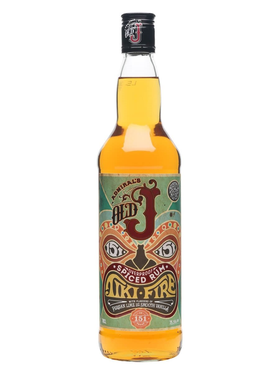 Admiral vernons old j spiced tiki fire rum the whisky exchange admiral vernons old j spiced tiki fire rum stopboris Images