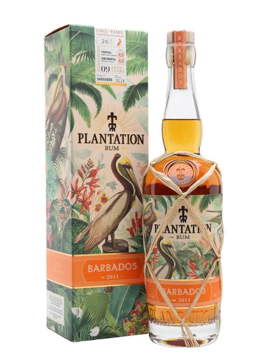 Plantation Barbados 2011 Rum / 9 Year Old