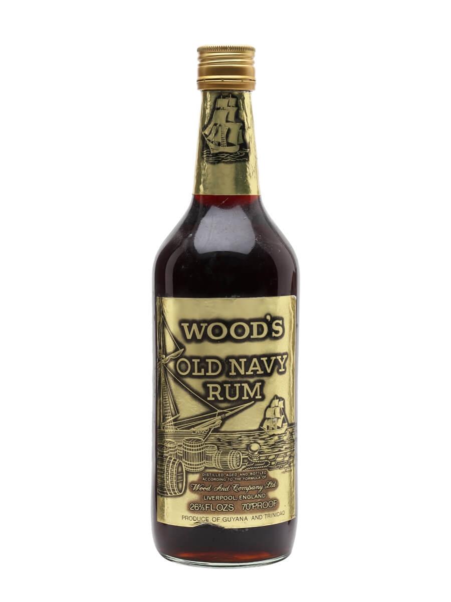 Wood's Old Navy Rum / Bot.1970s