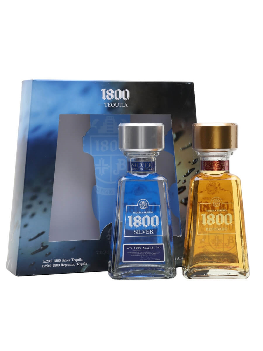 Silver and Reposado Gift Set - 2x20cl