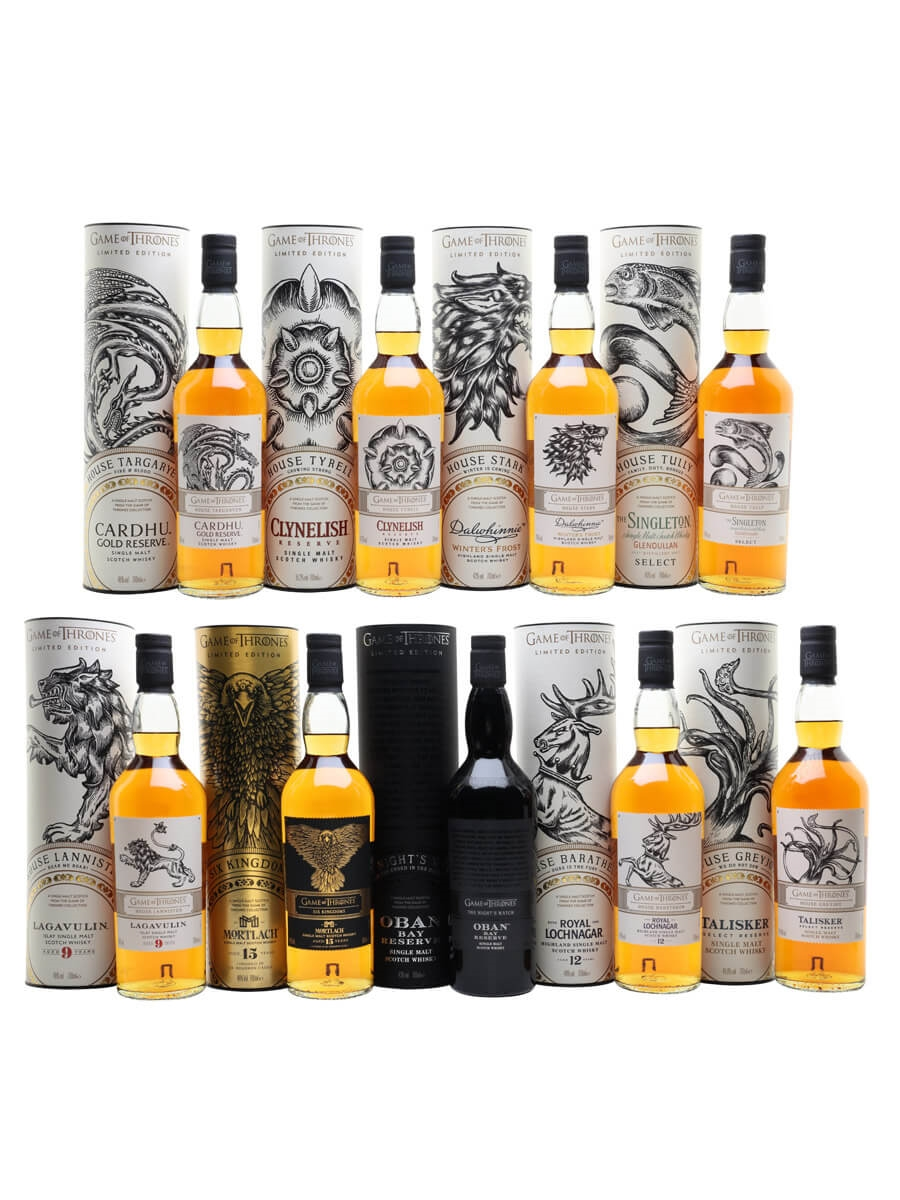 Game of Thrones Single Malt Whiskies / Set of 9 bottles