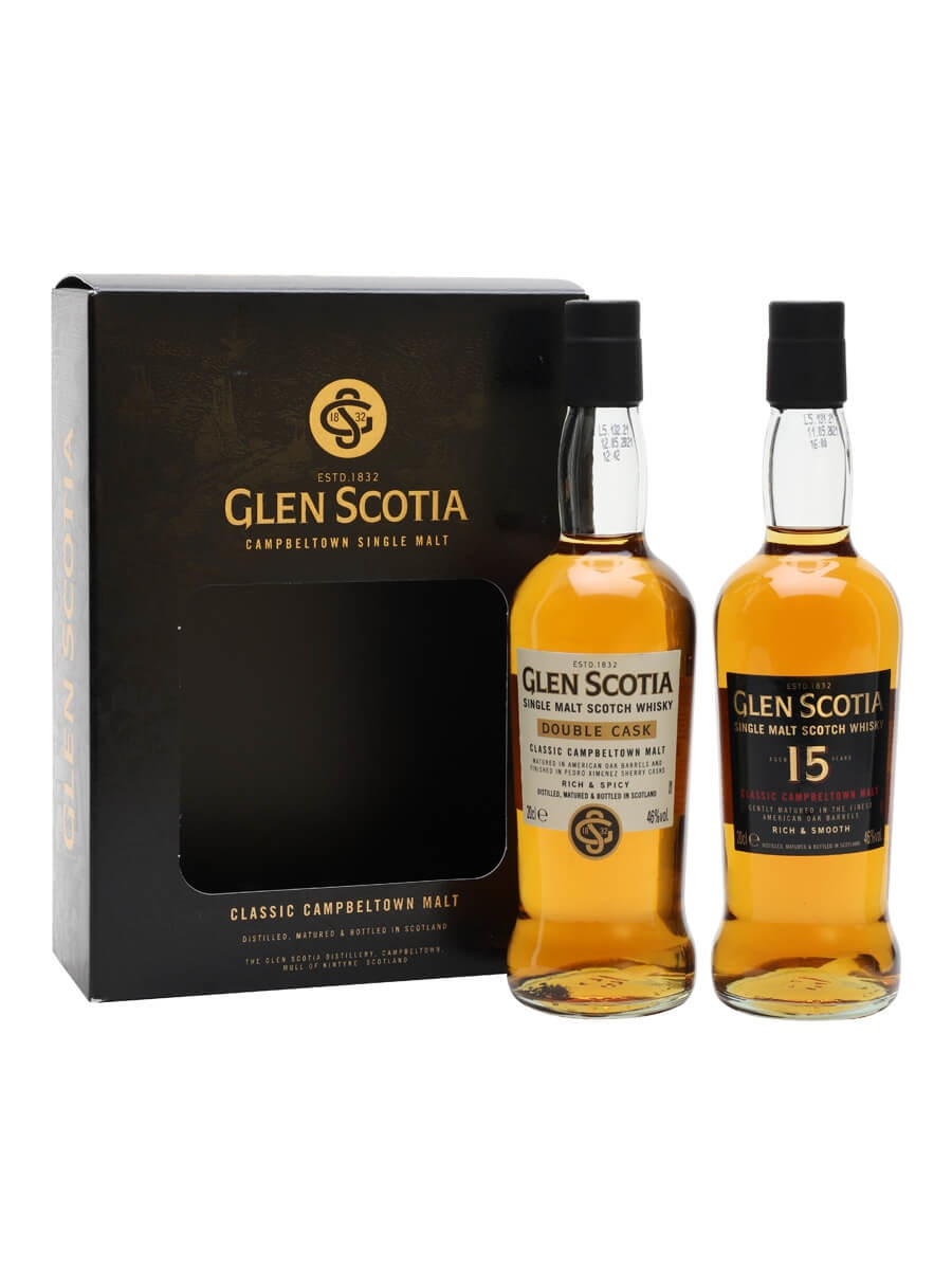 Glen Scotia Tasting Set (Double Cask and 15 Year Old) / 2x20cl
