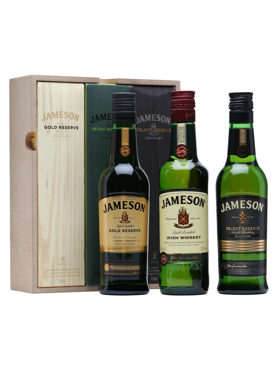 jameson trilogy gift set 3x20cl the whisky exchange. Black Bedroom Furniture Sets. Home Design Ideas