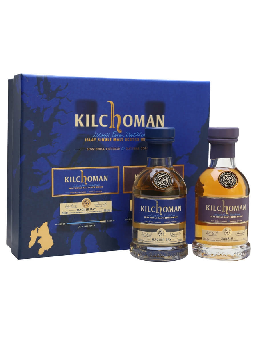 Kilchoman Machir Bay and Sanaig Gift Pack / 2x20cl