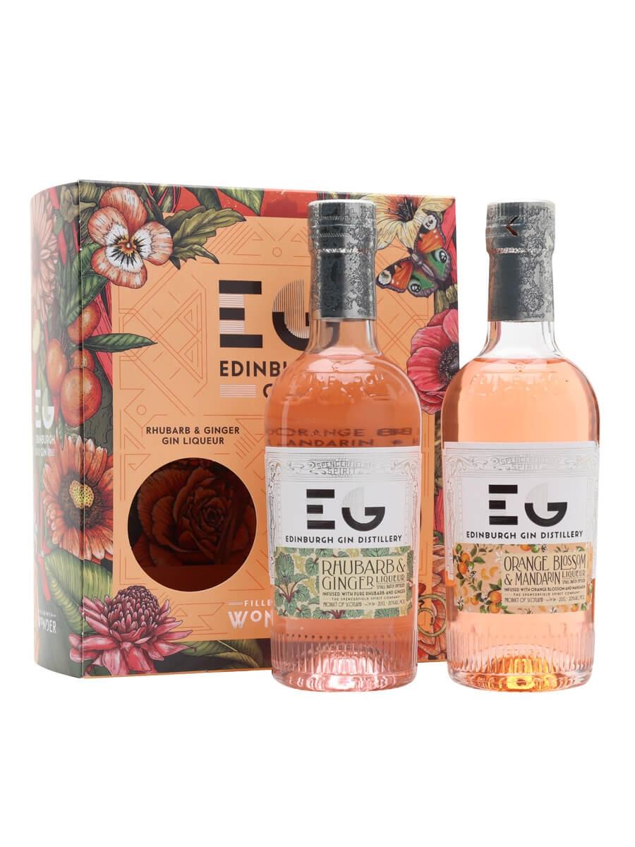 Edinburgh Fruit Liqueur Set (Rhubarb and Orange) / 2x20cl
