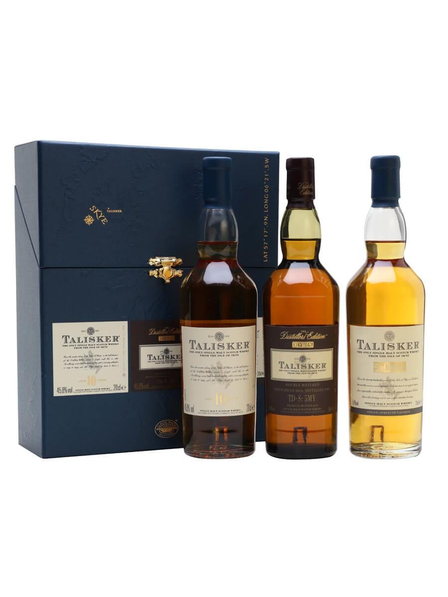 Island Single Malt Scotch Whisky; Distillery Bottling. Talisker Gift Pack / 3x20cl