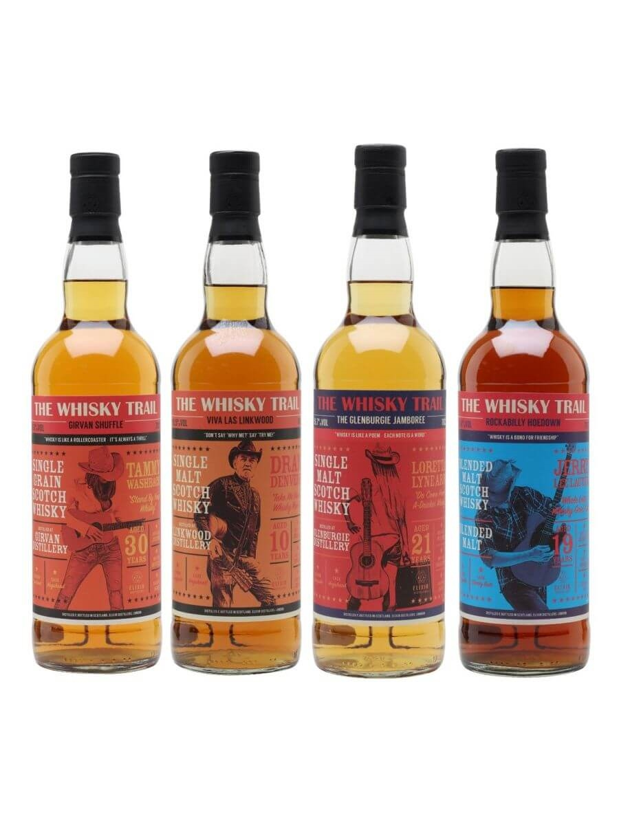 The Whisky Trail Country Series Set / 4 Bottles
