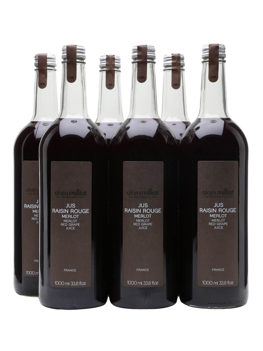Alain Milliat Merlot Red Grape Juice / Case of 6 Bottles