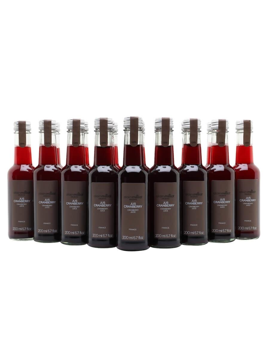 Alain Milliat Cranberry Juice / Case of 20 Bottles