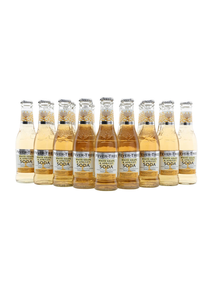Fever-Tree White Grape and Apricot Soda / Case of 24 Bottles