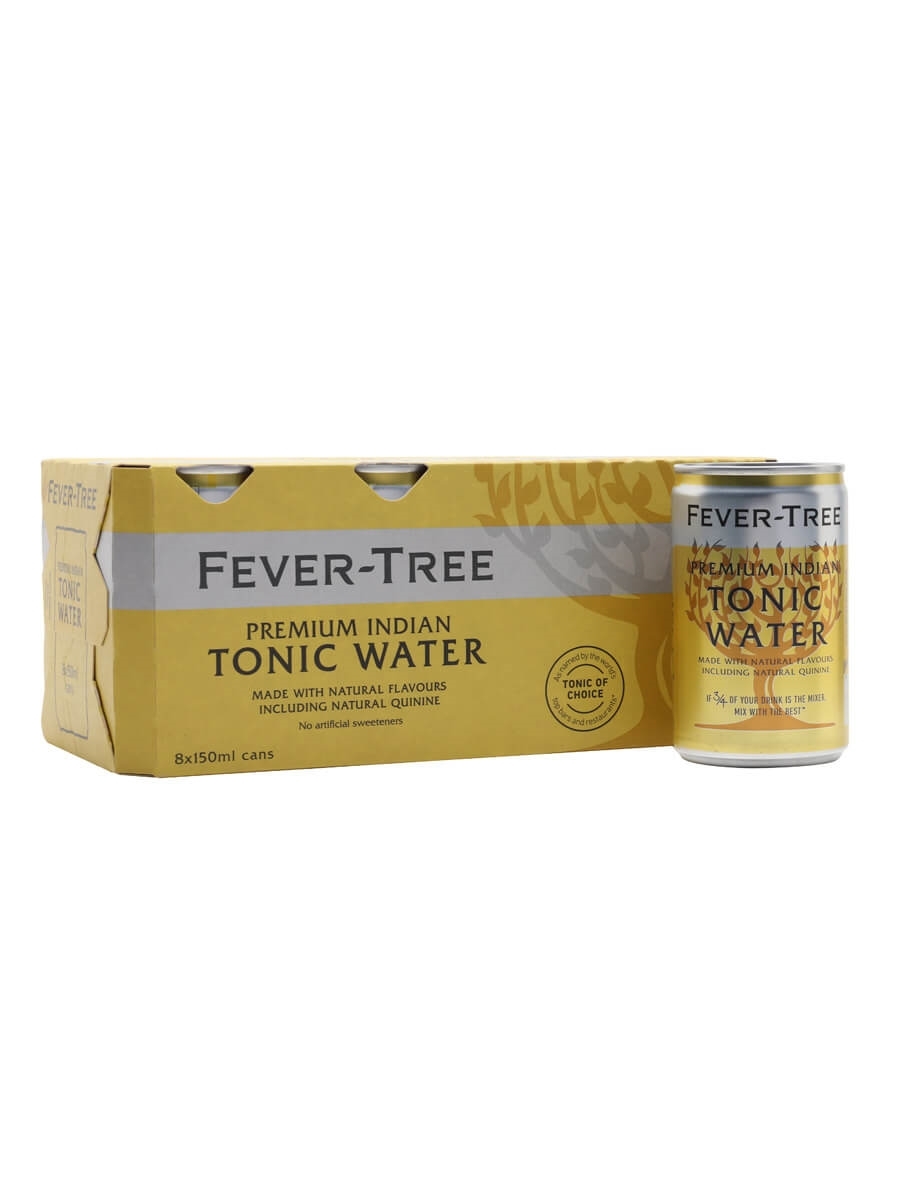 Fever-Tree Premium Indian Tonic Water / Case of 8 Cans