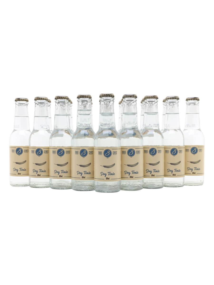Three Cents Dry Tonic Water / Case of 24 Bottles