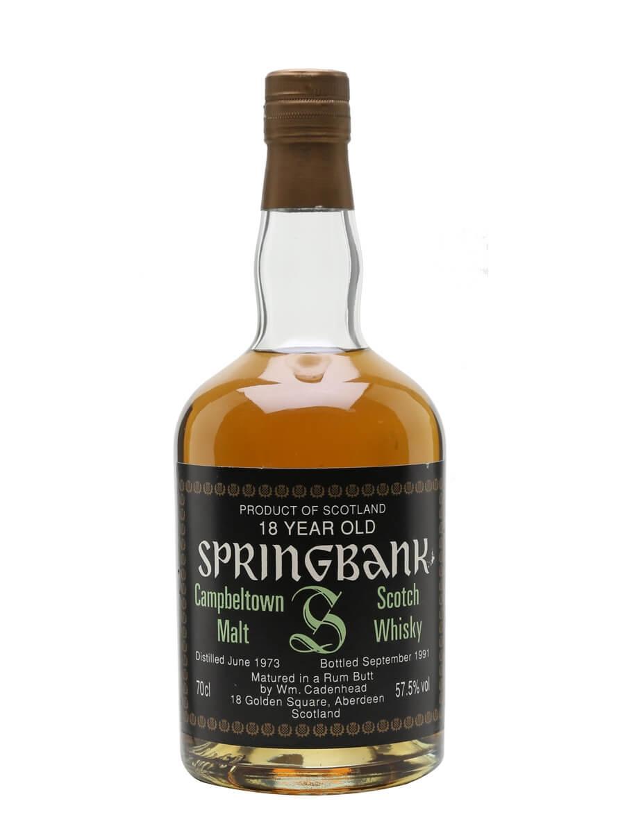 Springbank 1973 / 18 Year Old / Rum Butt / Cadenhead's