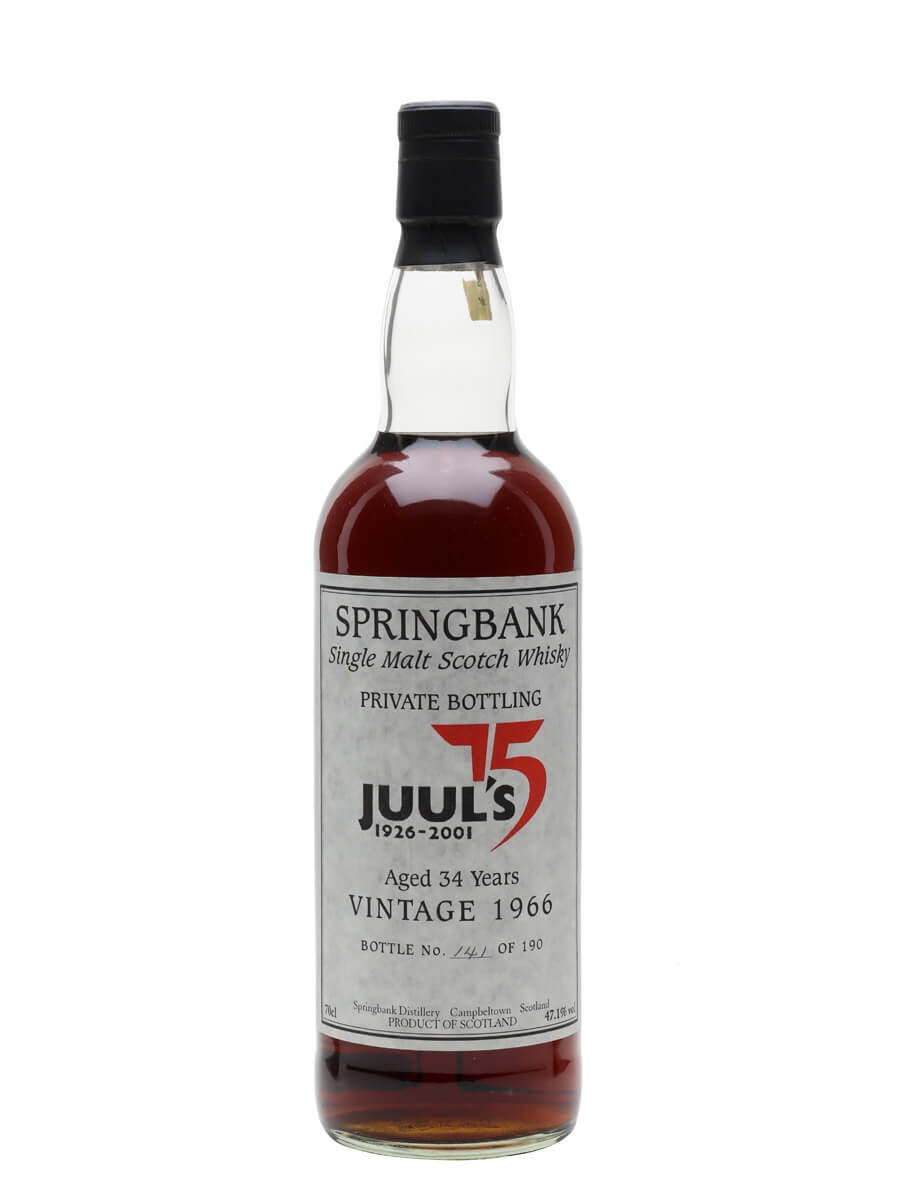 Springbank 1966 / 34 Year Old / Juul's 75 Private Bottling