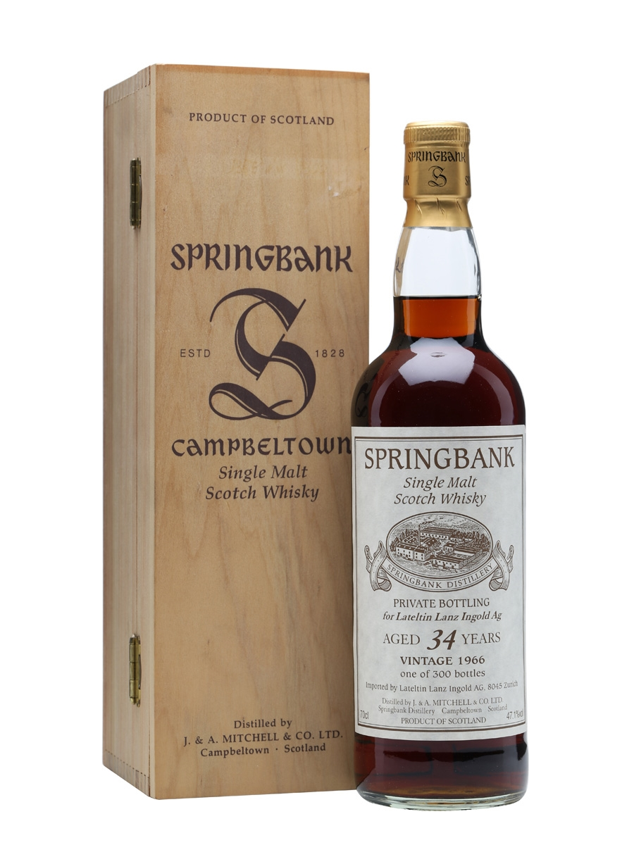 Springbank 1966 / 34 Year Old / Lateltin Lanz Ingold