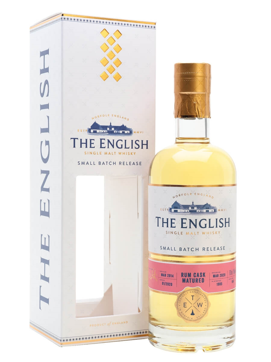 The English Rum Cask Matured Whisky 2014 / Bot.2020