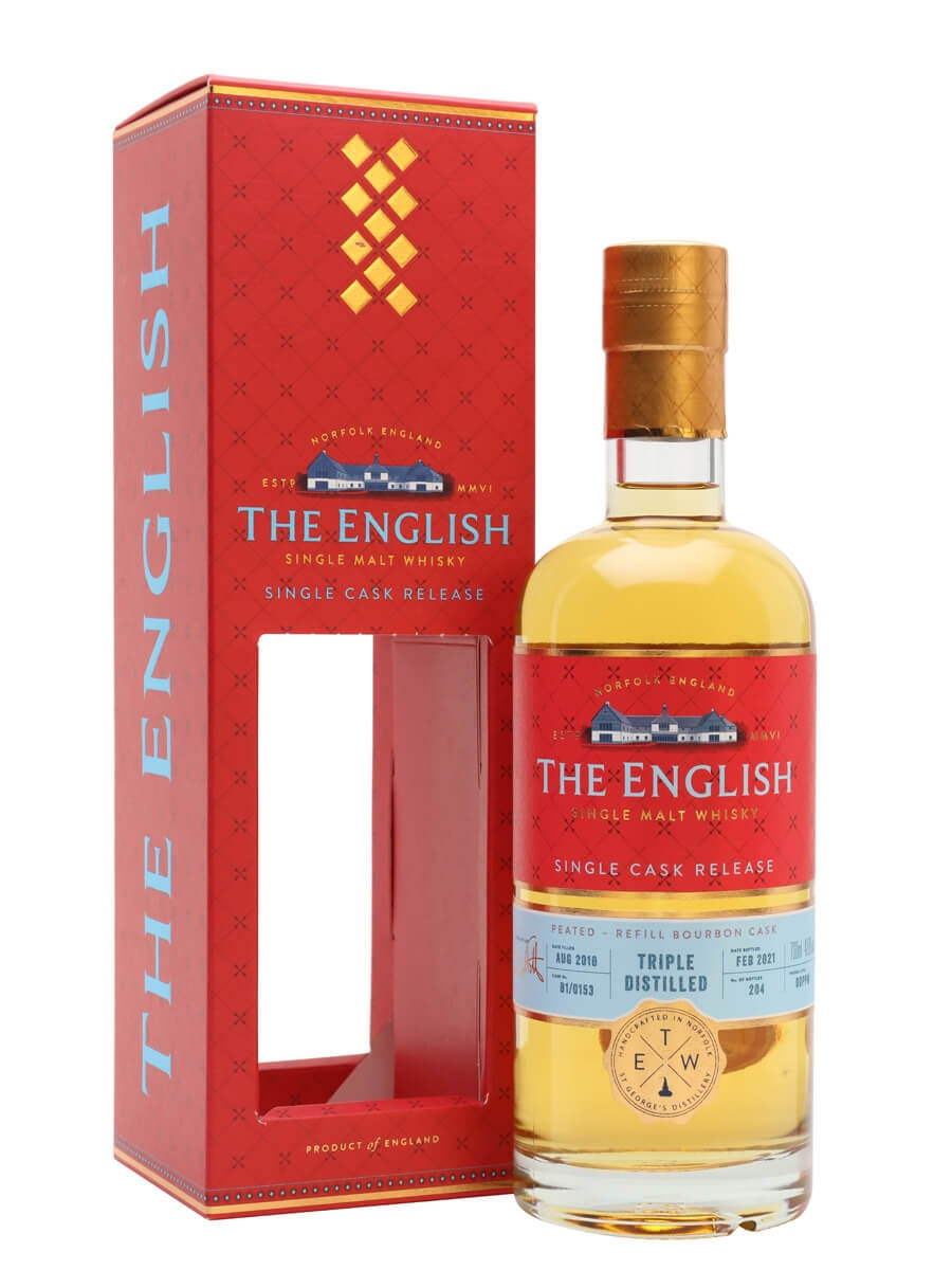 The English Triple Distilled Peated Single Cask
