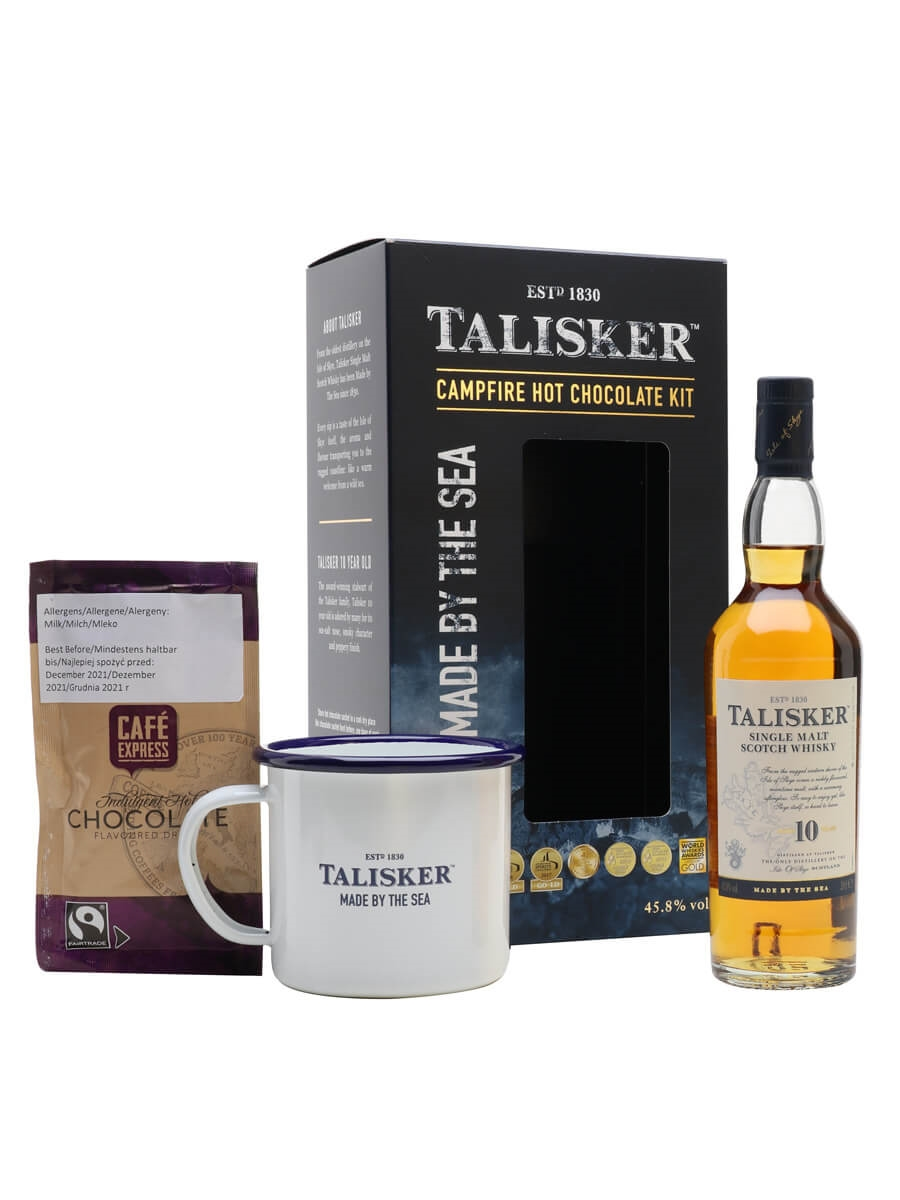 Talisker 10 Year Old Campfire Hot Chocolate Gift Pack / Small Bottle