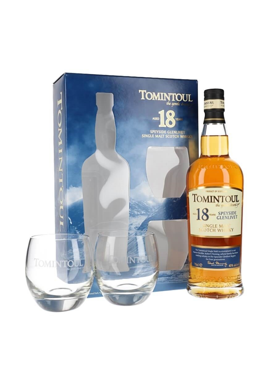 Tomintoul 18 Year Old / Glass Set