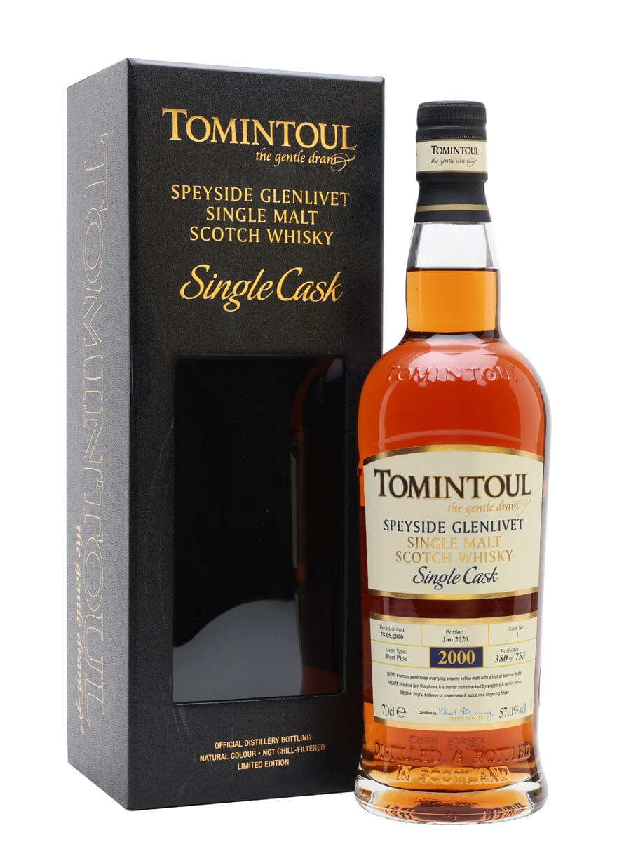 Tomintoul 2000 / 19 Year Old / Port Pipe