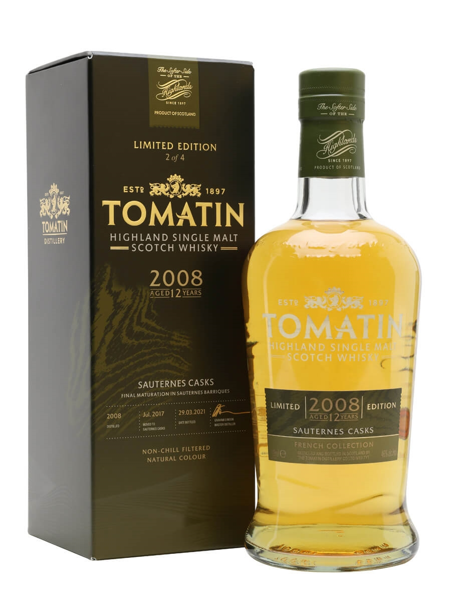 Tomatin 2008 / 12 Year Old / Sauternes Cask