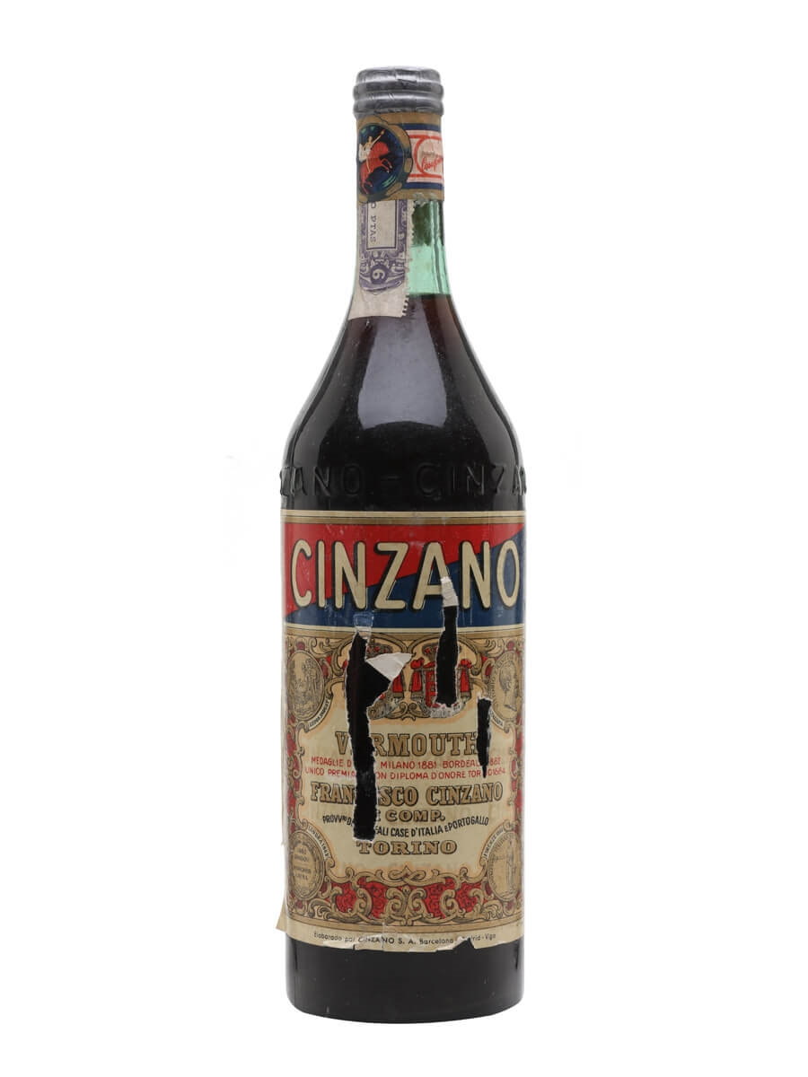 Cinzano Red Vermouth / Bot.1950s
