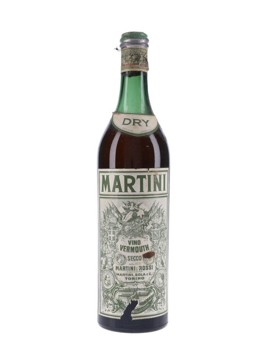 Martini Dry Vermouth / Bot.1950s