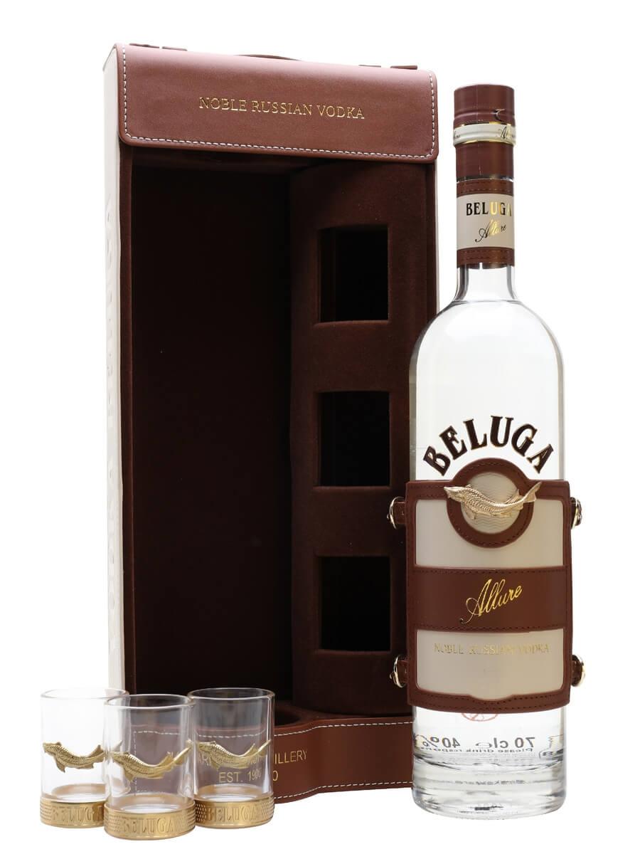 Beluga Allure Vodka + 3 Shot Glass Gift Pack