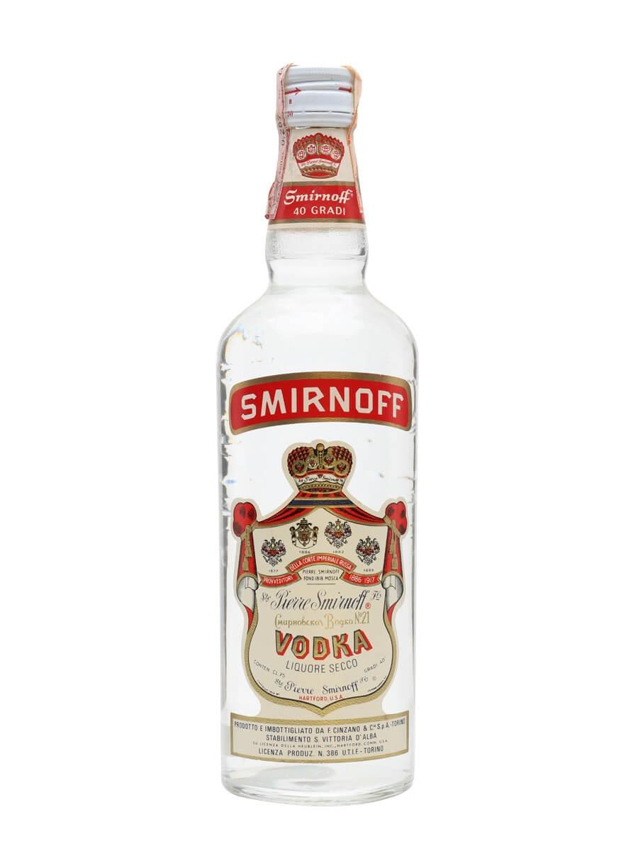 Smirnoff Vodka - Bot.1960s : Buy from World's Best Drinks Shop