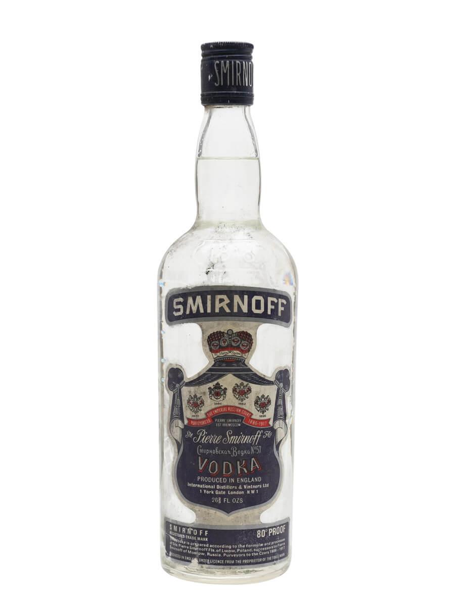Smirnoff Blue Vodka / Bot.1980s
